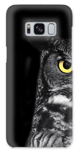 Owl Galaxy Case - Great Horned Owl Photo by Stephanie McDowell
