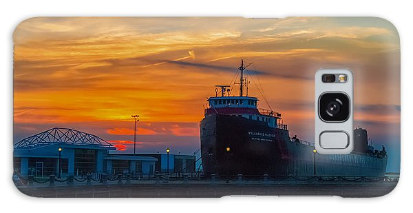 Great Lakes Freighter At Sunset Galaxy Case