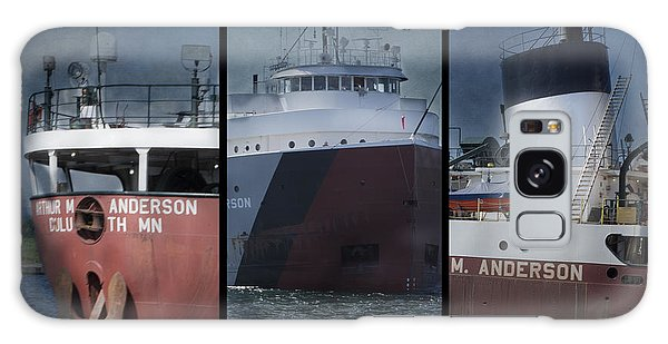 Great Lakes Freighter Triptych Arthur M Anderson Galaxy Case