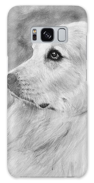 Great Pyrenees In Profile Drawing Galaxy Case