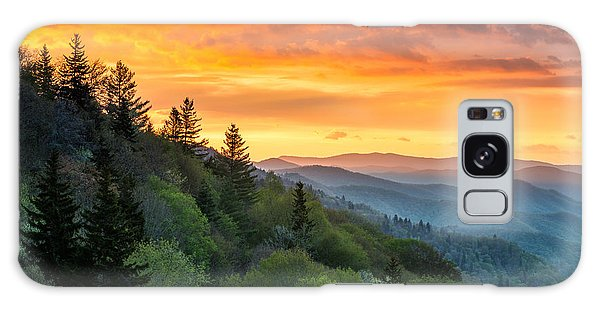 Great Smoky Mountains North Carolina Scenic Landscape Cherokee Rising Galaxy Case