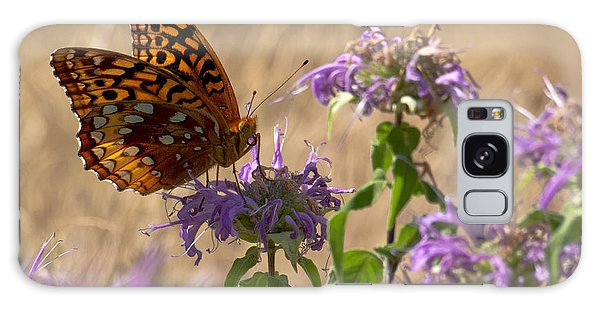 Great Spangled On Bee Balm Galaxy Case by Shelly Gunderson