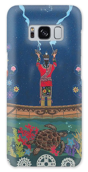 Galaxy Case featuring the painting Great Teacher - Sedwa'gowa'ne by Chholing Taha