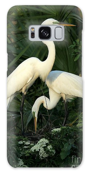 Great White Egret Mates Galaxy Case