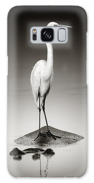 Great White Egret On Hippo Galaxy Case