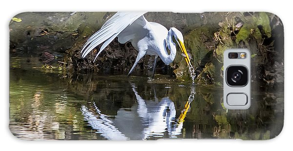 Great White Heron Fishing Galaxy Case by Charles Warren