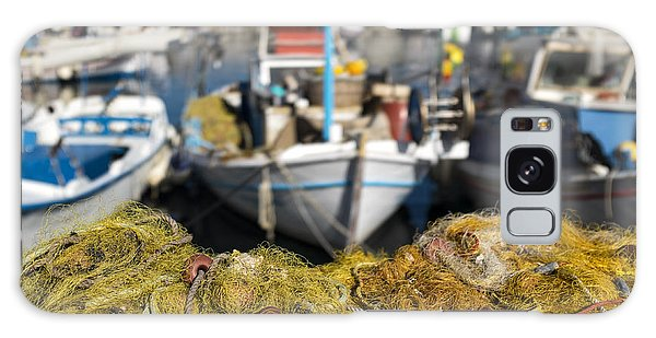 Greek Fishing Harbour Galaxy Case