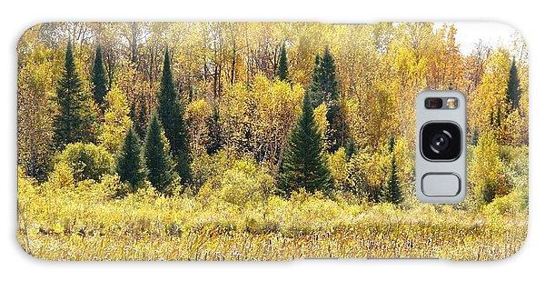 Green Amongst The Gold Galaxy Case by Susan Crossman Buscho