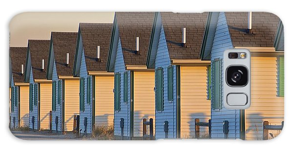 Green And White Cottages Of Truro Galaxy Case