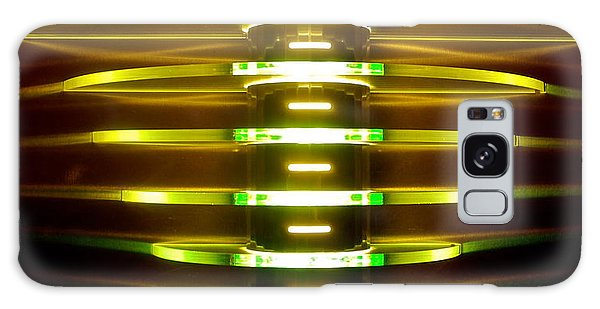 Green And Yellow Light Reflectors Galaxy Case