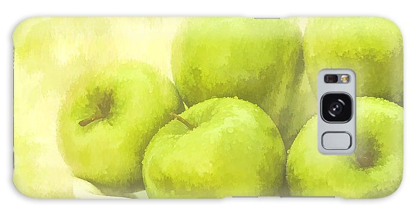 Green Apples Galaxy Case by Linda Blair
