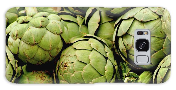 Green Artichokes Galaxy Case by Art Block Collections