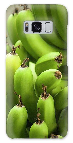 Hybrid Galaxy Case - Green Banana Fruits (musa Hybrid) by Maria Mosolova