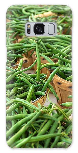 Green Beans In Baskets At Farmers Market Galaxy Case