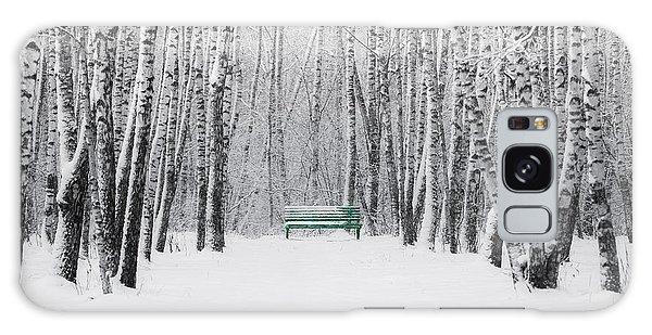 Green Bench Galaxy Case by Alexander Senin