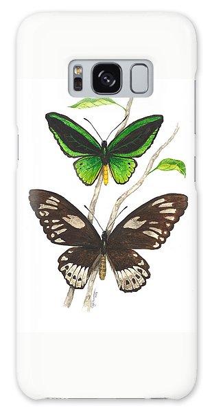 Green Birdwing Butterfly Galaxy Case
