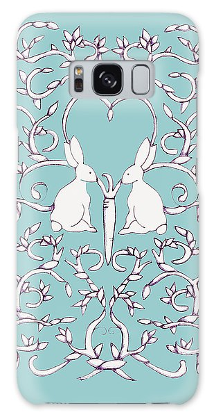 Green Blue Rabbits Leaves Galaxy Case