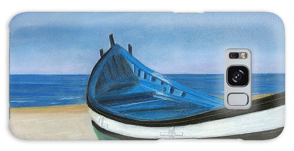 Green Boat Blue Skies Galaxy Case