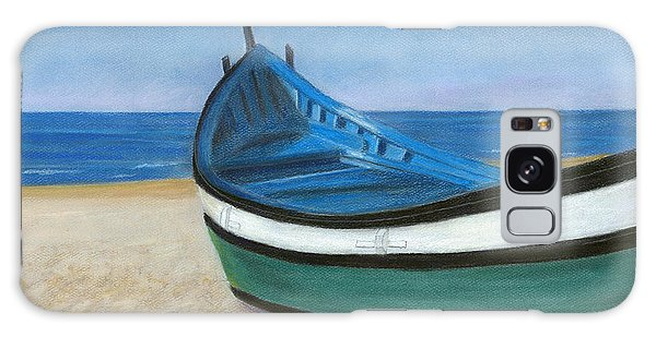 Green Boat Blue Skies Galaxy Case