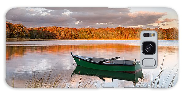 Green Boat On Salt Pond Galaxy Case