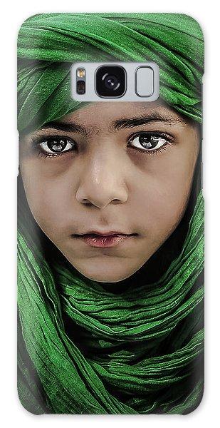 Scarf Galaxy Case - Green Boy by Saeed Dhahi