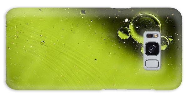 Colours Galaxy Case - Green Bubble by Samuel Whitton