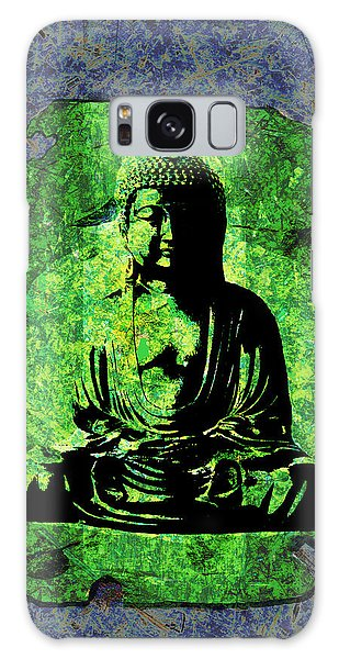 Green Buddha Galaxy Case by Peter Cutler