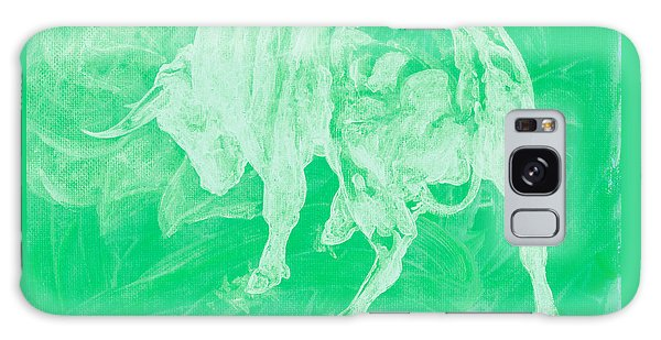 Green Bull Negative Galaxy Case