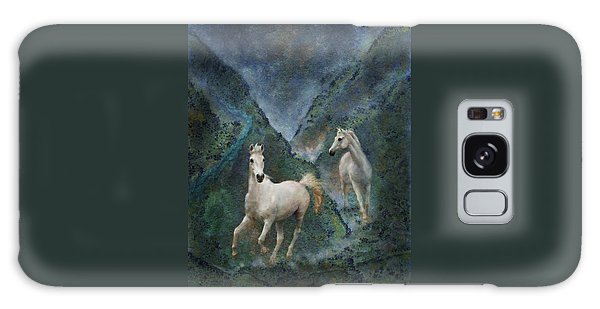 Green Canyon Run Galaxy Case by Melinda Hughes-Berland
