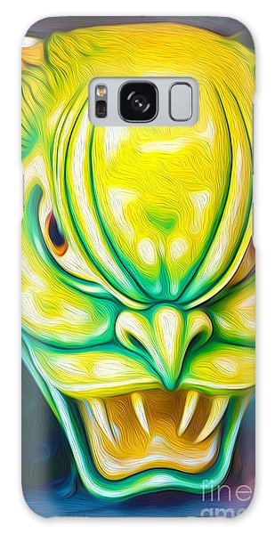 Green Demon Galaxy Case by Gregory Dyer
