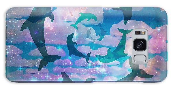 Green Dolphin Dance Galaxy Case