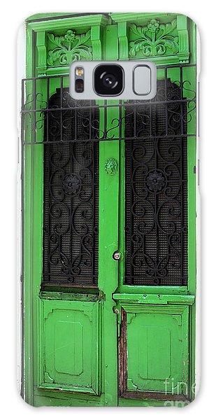 Green Door In Bogota Galaxy Case