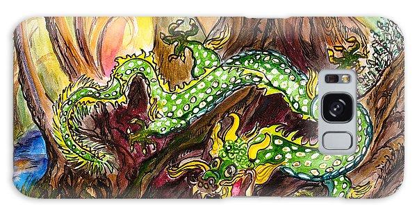 Green Earth Dragon Galaxy Case