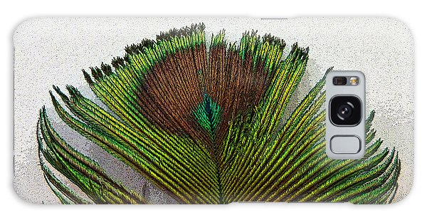 Green Feather Tip Galaxy Case