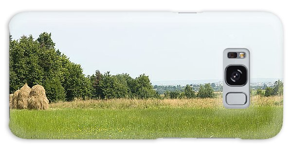 Green Field Panorama Galaxy Case