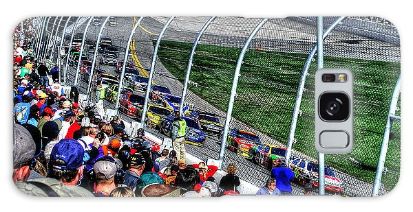 Green Flag 2010 Daytona 500 Galaxy Case by Craig T Burgwardt