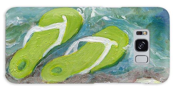 Green Fliip Flops On Tybee Galaxy Case by Doris Blessington