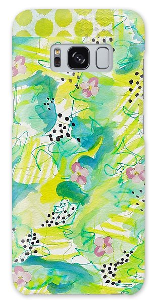 Green Floral Abstract Galaxy Case