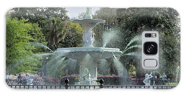 Green Forsyth Park Fountain Galaxy Case