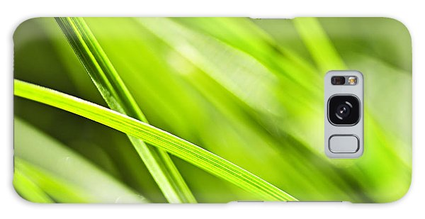 Plants Galaxy Case - Green Grass Abstract by Elena Elisseeva