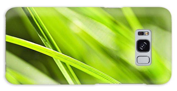 Green Grass Abstract Galaxy Case