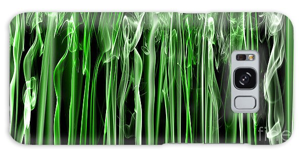 Green Grass Smoke Photography Galaxy Case by Sabine Jacobs