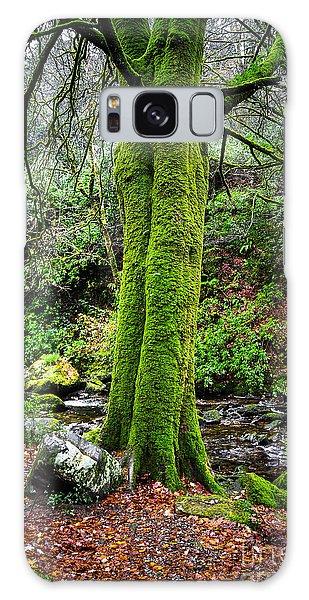 Green Green Moss Galaxy Case