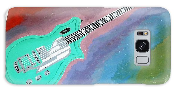 Green Guitar Galaxy Case by Magdalena Frohnsdorff