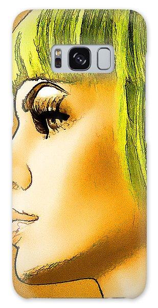 Green Hair Galaxy Case