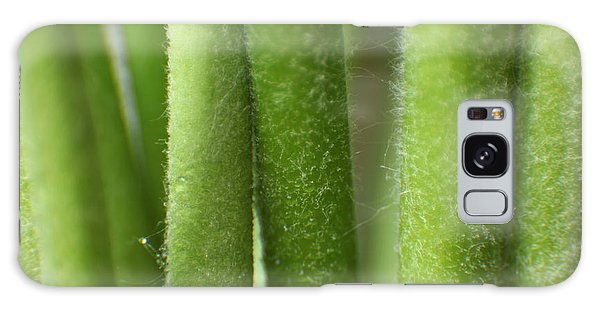 Green Hairy Stems Abstract Galaxy Case by Eden Baed