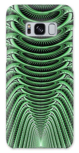 Green Hall Galaxy Case by Anastasiya Malakhova