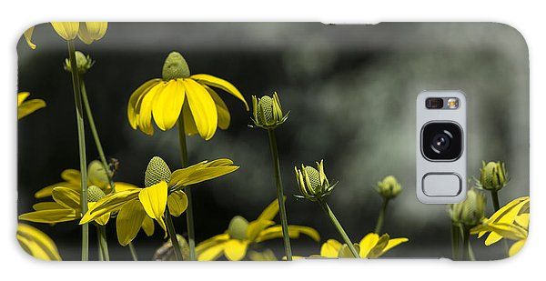 Green Headed Coneflower Galaxy Case