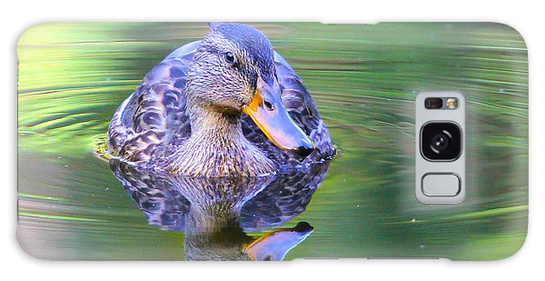 Green-headed Duck At Sunset Galaxy Case