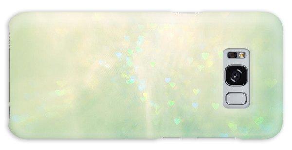 Green Hearts Galaxy Case